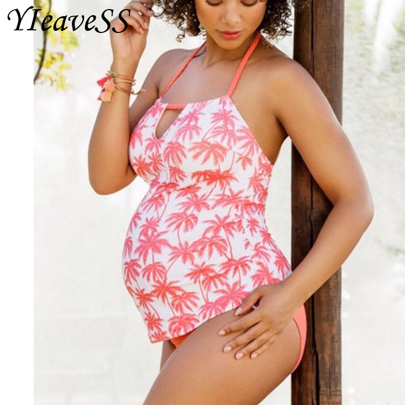 5XL Two Piece Tankini Set Large Plus Size Swimwear Retro Women 2019 Swim Sport Swimsuit Bather Beach Wear Pregnant Bathing Suit