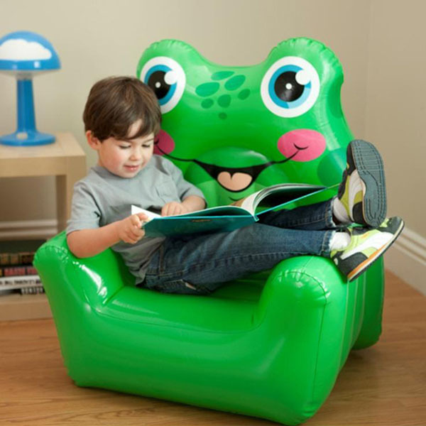 INTEX 68596 Cartoon Frog Owl Kids Toy Inflatable Sofa Chair Animal Children  Furniture Living Room Folding