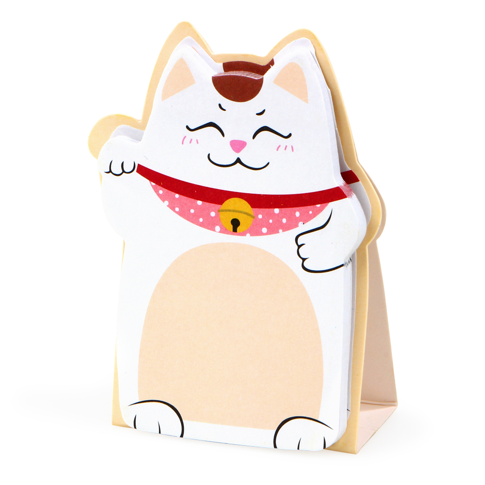 1Pack Cartoon Fortunate DIY Lucky Cat Memo Pad Sticky Label Post it School Sticky Note Office Supplies Stationery E2041