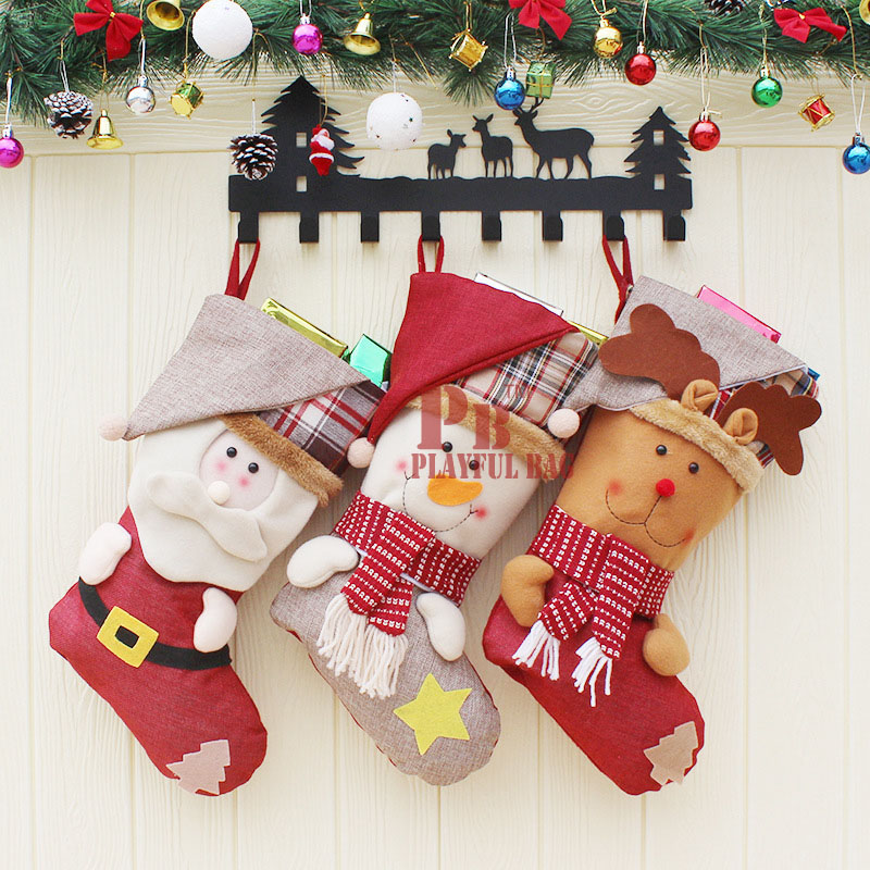 Christmas Tree Pendant, Santa Claus socks, new Christmas supplies, suitable for restaurants, home and other places image