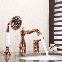 Rose gold Luxury gold Chrome Oil Rubbed Bronze brass bathroom sink faucet mixer tap Bathtub faucet 3 hole 4 hole 5 holes faucet