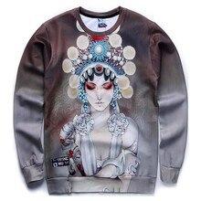 New designed men/women 3d hoodies print Beijing opera Theater actor 3d sweatshirts national style hoodies tops