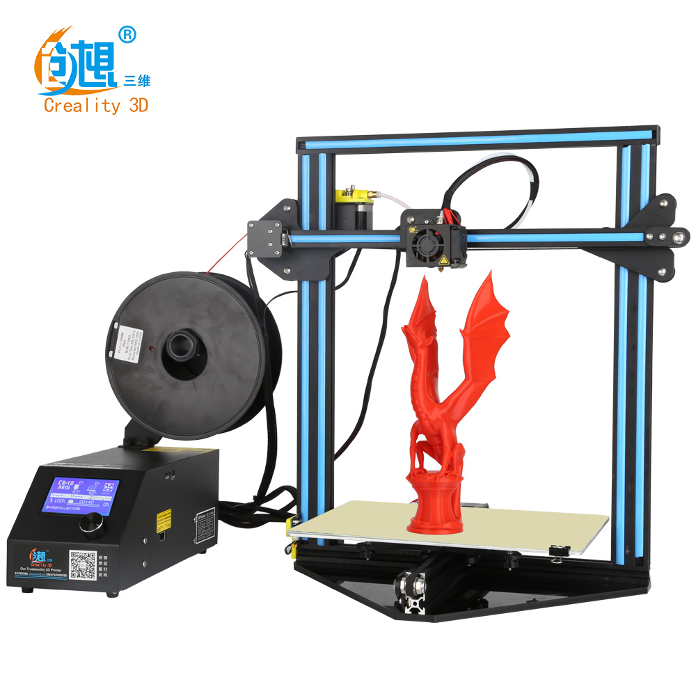 Auto Resume Print after Power Interrupt Creality 3D Pinter CR-10 MINI Large Print Size 300*220*300mm Metal 3D Printer DIY Kit original anycubic 3d pinter kit kossel pulley heat power big size 3d printing metal printer fast shipping from moscow