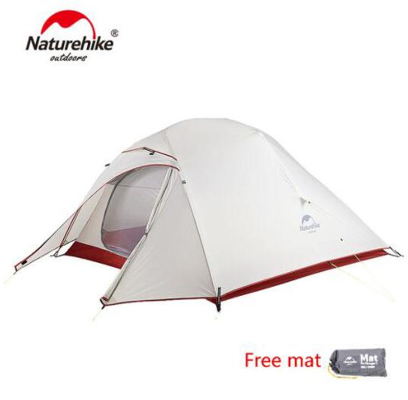 Naturehike Cloud UP Updated Free Self Standing 20D Silicone Tent Double Layers 1 2 3 Person