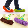 WHISM A pair of Mop Slipper Microfiber Lazy House Floor Dust Washable Cleaning Mop Shoe Cover for Home Cleaning Tools