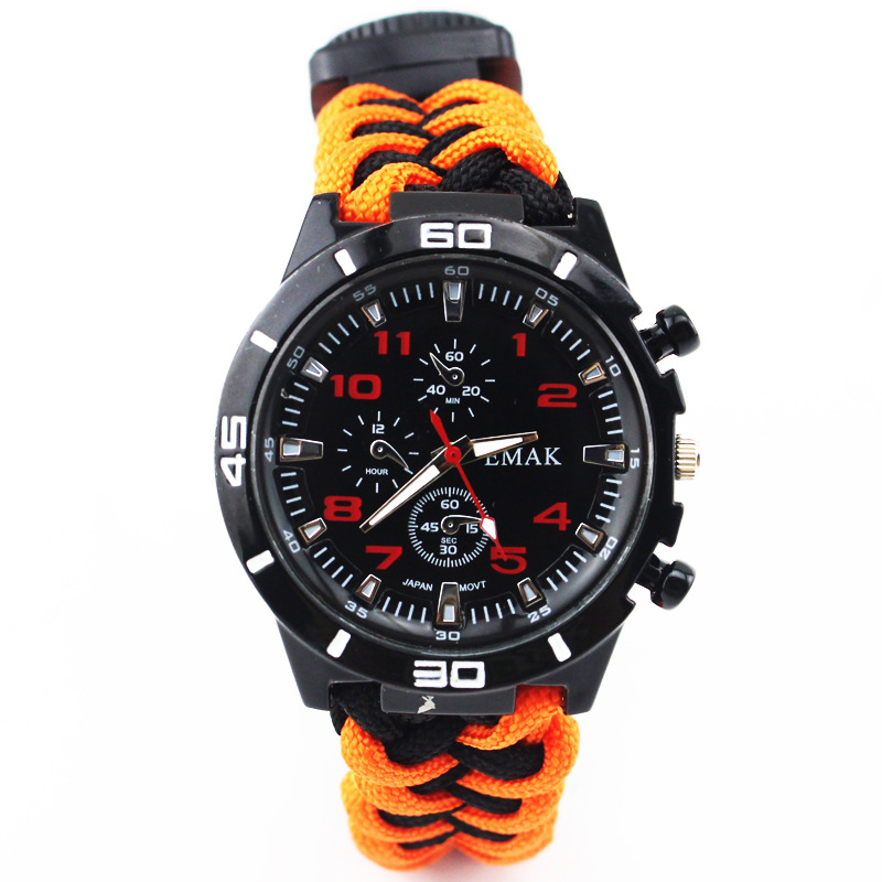 Multi-functional Survival Watch Colourful Outdoor Camping Tools Compass Thermometer Knif ...