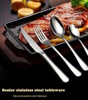 Hot Sale 24 Pcs/set No box packaging Dinnerware Stainless Steel Western knife Cutlery Kitchen Food Tableware Dinner Set