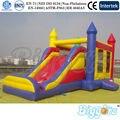 Esportes ao ar livre Brinquedos Trampolim Inflável Com Escorregador Para Crianças