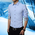 2016 New Plus size M-5XL solid Regular Long Sleeve men shirts,Casual Turn-down Collar shirt,Slim fit Cotton chemise homme-1583