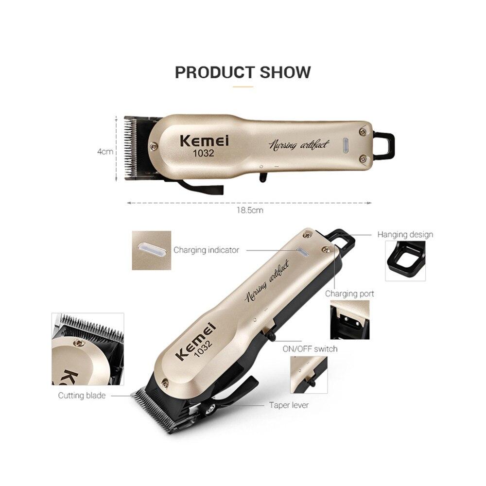 Kemei Powerful Hair Beard Trimmer Professional Electric Hair Clipper Razor Cordless Hair Cutting Machine With Combs Barber 3