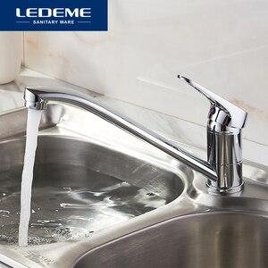 Image 1 - LEDEMEสไตล์คลาสสิกก๊อกน้ำห้องครัวทองเหลืองเดี่ยวเย็นและก๊อกน้ำร้อน 360 องศาหมุนL4913