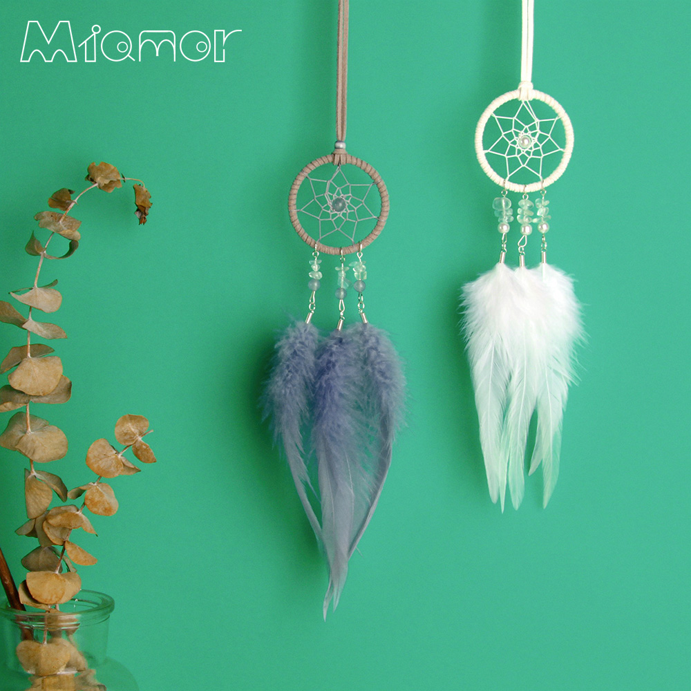 MIAMOR Nordic MINI Dreamcatcher Wind Chimes Bag&Car Hanging Decor Accessories Best Gift For Girlfriend Necklace For Lady Amor052