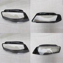 I fari anteriori fari lampada paralume in vetro coperchio della lampada shell trasparente maschere Per per Audi A4 B8 2008-2012