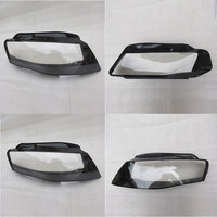 Front headlights headlights glass lamp shade shell lamp cover transparent masks To for Audi A4 B8 2008 2012