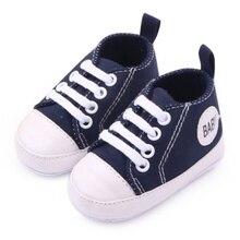 Для новорожденных 0-12 M Новорожденных Малышей Холст Кроссовки Мальчик Девочка Мягкой Подошвой Детская Кровать В Обуви Первые Ходунки 12 Цвета а