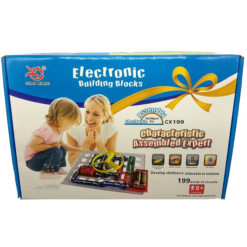 199 Kinds Capture circuit Electronics Discovery Kit Electronic Building Blocks Assembling Toys for Kids