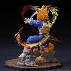 Image 3 - Anime Dragon Ball Z  Vegeta Zero Version Action Figure DBZ Shock Wave Battle Ver.  PVC Collectible Model Toy  15cm