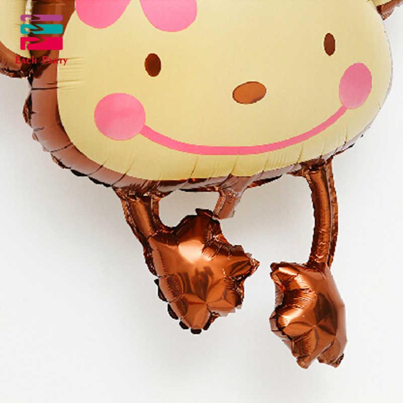 جميل زهرة القرد الألومنيوم احباط بالونات نفخ بالون زينة حفلة عيد الاطفال اللعب الحيوان حديقة الحيوان فيستا بالونات 1 قطعة