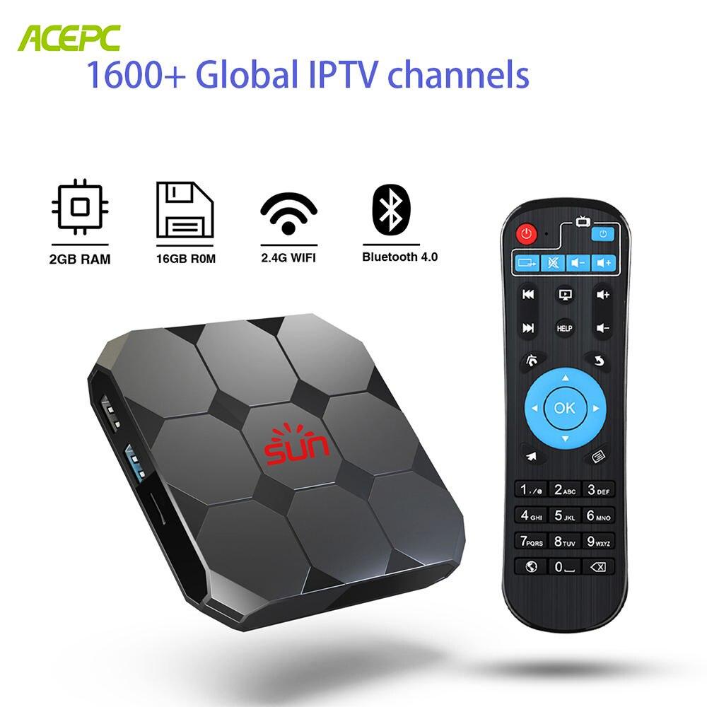SUN iptv subscription android tv box smart lifetime free 1600 channels italia brasil UK USA Europe