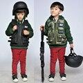 Crianças colete tático militar polícia RPG jogos ao ar livre impermeável desgaste à prova de vento CS jogo de treinamento swat colete de camuflagem colete tattici