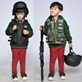 Militar policía niños chaleco táctico RPG juegos exterior impermeable a prueba de viento CS juego de entrenamiento swat chaleco camo gilet tattici