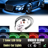 New Arrival 2017 7 Color LED Strip Under Car Tube Underglow Underbody System Neon Lights Kit