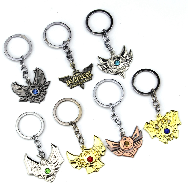 Classic Games Jewelry LOL League of Legends logo badge keychain fashion 1