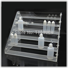 1pc Acrylic e cig display case cigarette stand shelf holder rack box for e-liquid needle bottle e-juice