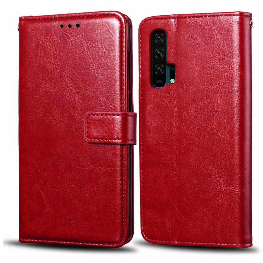 Case For Huawei Honor 20 Pro Case Cover Luxury Flip Magnetic Wallet Leather Case For Honor 20 Pro Protector 360 Plain Phone Bags