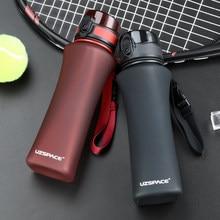UZSPACE spor su şişeleri 500ml moda Protein Shaker Gourde tırmanma yürüyüş seyahat şişe Gourde plastik Drinkware BPA ücretsiz