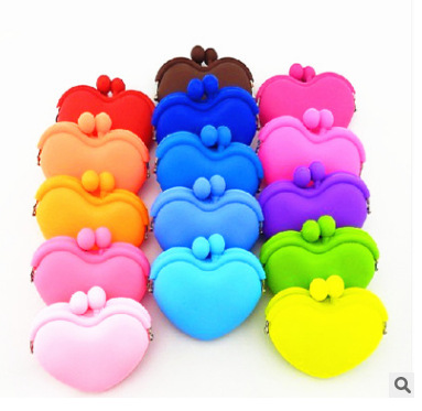 NEW MINI Women Wallets Fashion Women Love Messenger Bags Silicone Coin Purse Baby Toys Children Gift