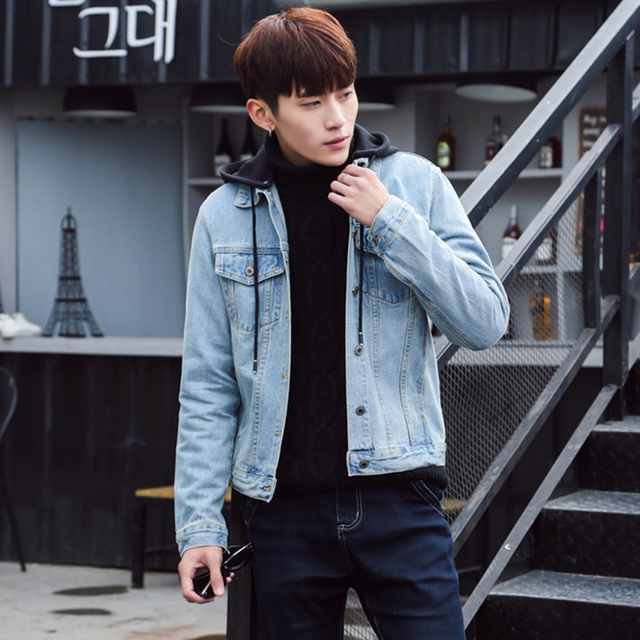 2018 Denim Jacket Men Bomber Jackets And Coats Fashion Cowboy Jean