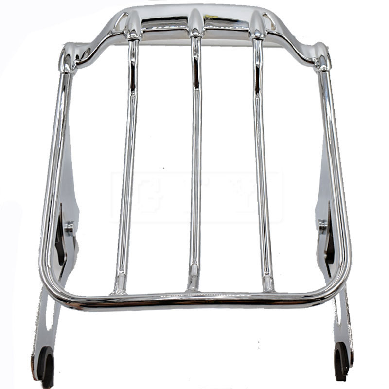 Motorcycle Detachable Two Up 2-Up Air Wing Luggage Rack For Harley Touring Road King Road Street Glide 2009 2010 -  2014 2015 12 motorcycle chrome luggage rack for harley touring road king street glide cvo road glide street electra glide flhr 2009 2017 16
