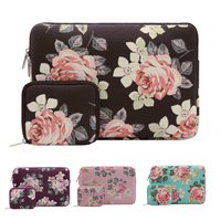 Mosiso Roses Lady Laptop Sleeve Bag For Macbook Pro Air 13 Acer Lenovo Asus HP Toshiba