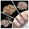 Nail Art Stickers 1000Pcs Fimo Clay 3D 3 Series Flower Fruit Animal Design Nail Decals DIY Designer Manicure Decorations Flowers