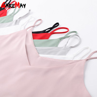 Women Tank Top Camisole Tank Short Summer Loose Tops Halter Top Sleeveless Top Women Elastic Camiseta