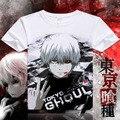 Tóquio Ghoul t-shirt New Japan Anime Ken Kaneki Cosplay traje confortável respirável fibra de leite T Shirt para mulheres dos homens cobre T
