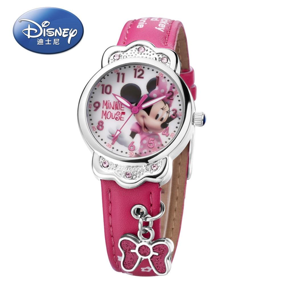 Shop For Cheap 100% Genuine Disney Brand Watches Frozen Sophia Minnie Watch Fashion Luxury Watch Men Girl Wrist Watch 2018 Hot Sell Children's Watches