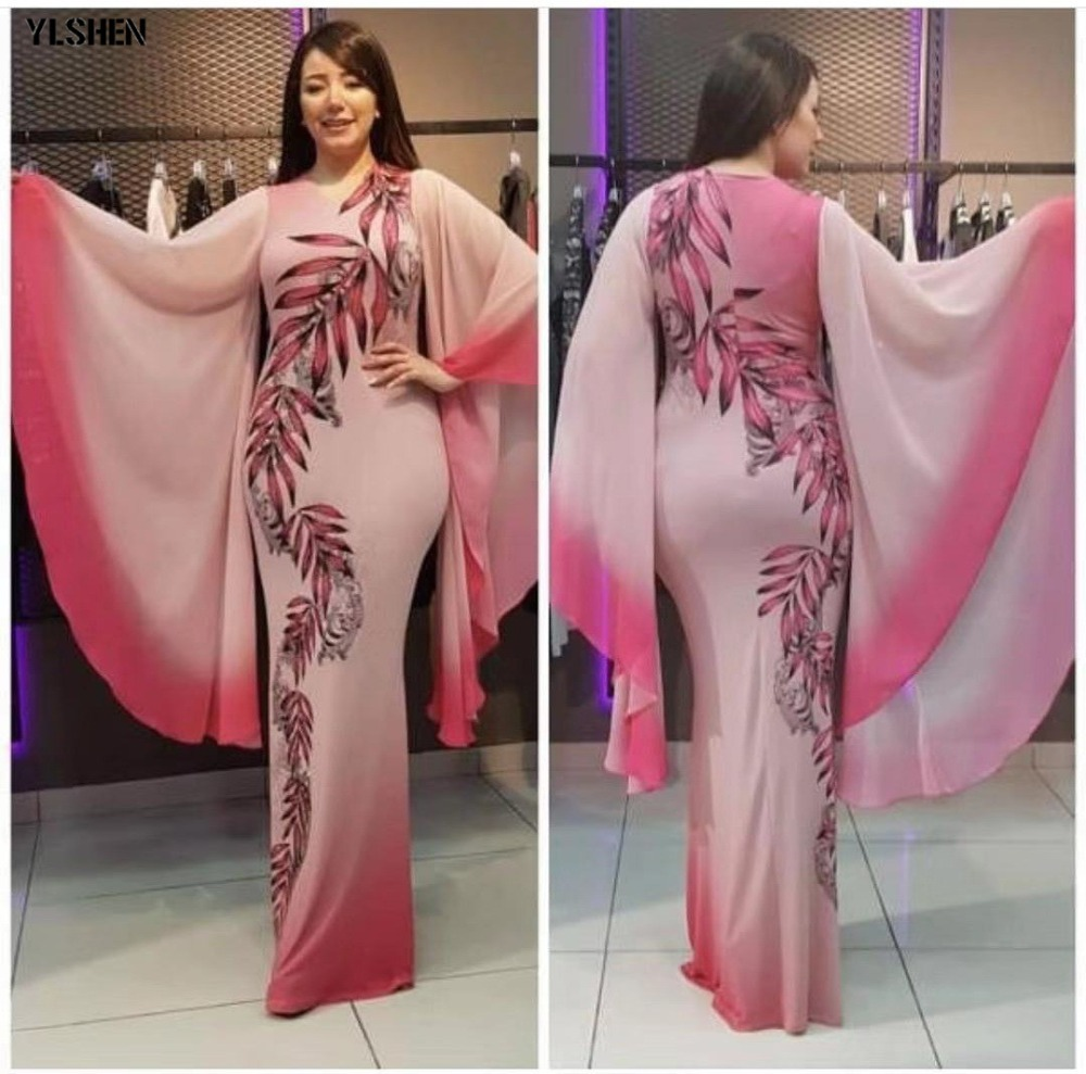 New African Dresses for Women Dashiki Print African Clothes Bazin Riche Sexy Slim Ruffle Sleeve Long Africa Maxi Dress Woman 02