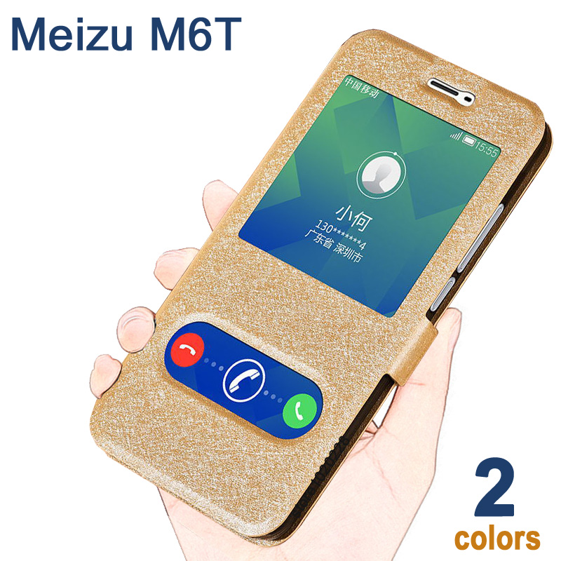 Meizu m6t case Windows leather cover for meizu m 6 t case Luxury PU Meizu m6 t case cover