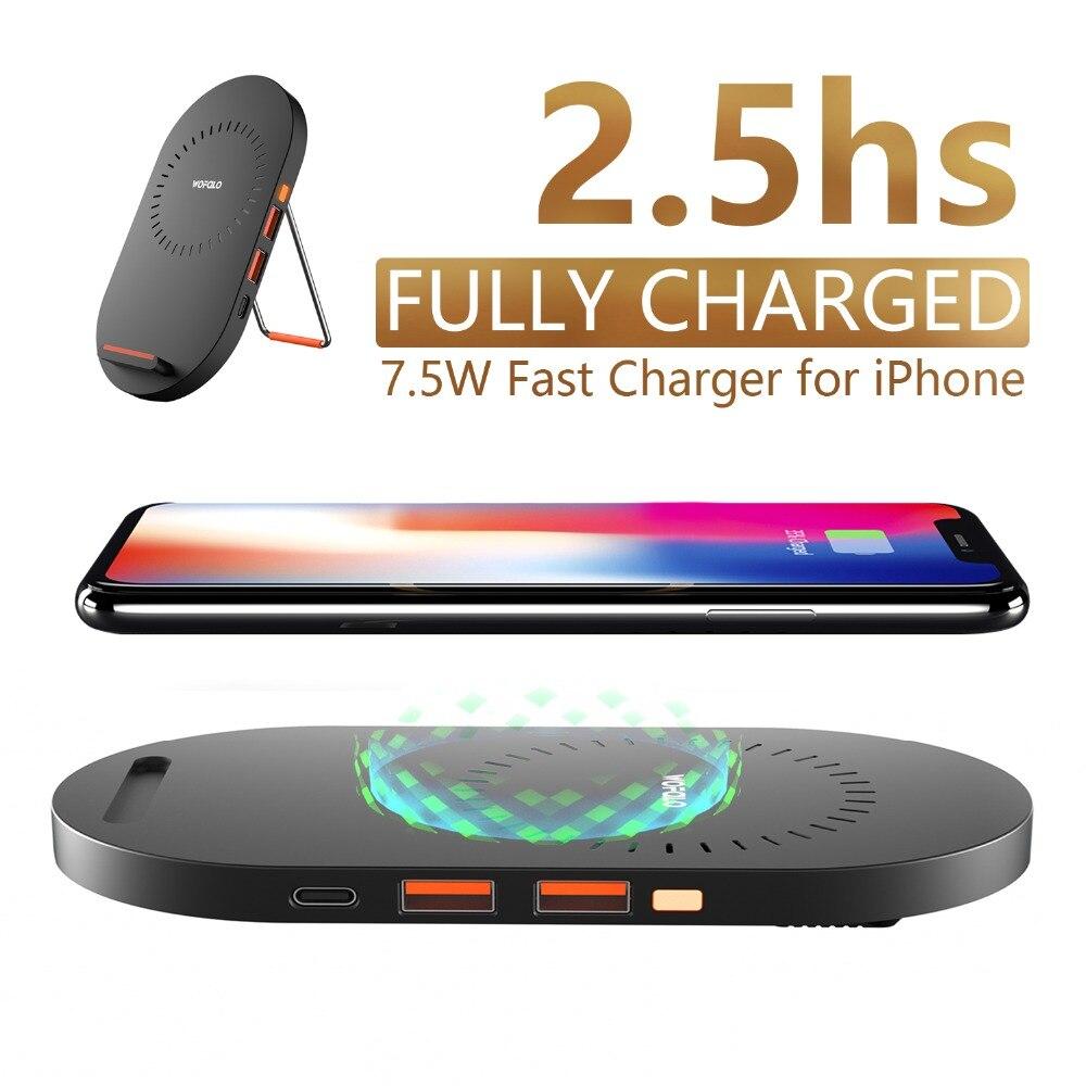 Teléfono x 7.5 W rápido cargador inalámbrico PAD, wofalo 2 en 1 soporte de carga rápido Esterillas dock para iPhone 8/más Samsung S9/S9 plus