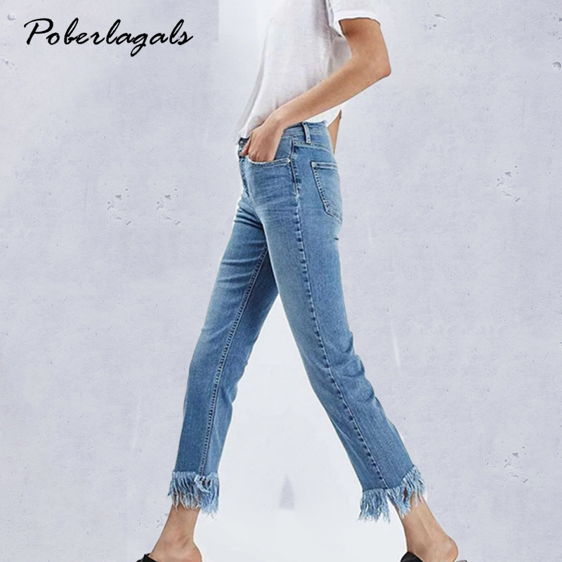 Denim  jeans woman bottoms 2017 New summer high waist jeans female Casual light blue Casual straight jeans pants capris women flower embroidery jeans female blue casual pants capris 2017 spring summer pockets straight jeans women bottom a46