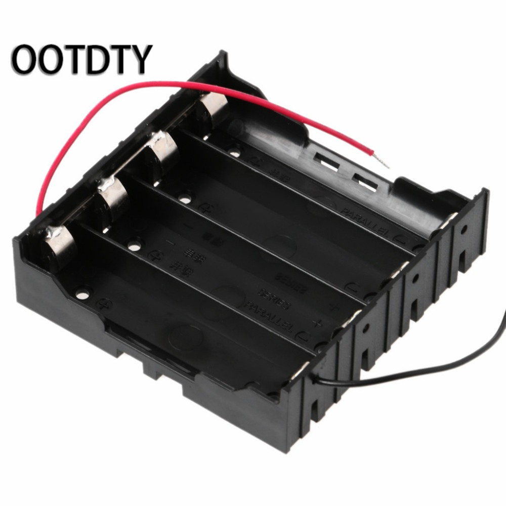 3.7V Parallel 3x 4x 18650 Batteries Holder Box Storage Case Container With Wire