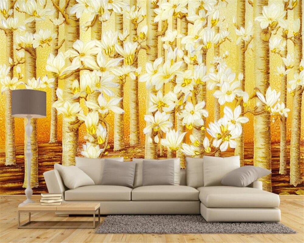 Aliexpress.com : Buy beibehang Custom wallpaper 3D gold color color ...