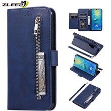 Leather Zipper Hawei P30pro Flip Wallet Case For Hauwei P30