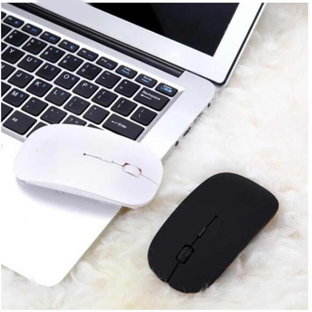 1600 dpi USB оптическая беспроводная компьютерная мышь 2,4G приемник супер тонкая мышь для ПК ноутбука дропшиппинг