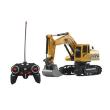 RC Truck 2.4G 1:24 Remote Control Excavator Vehicle 6 Channels Charging Model Toys LED Light Simulation Sound Toy 11 channels rc car rc excavator remote control toy car large electric excavator charging electric vehicle toy for kid brinquedos