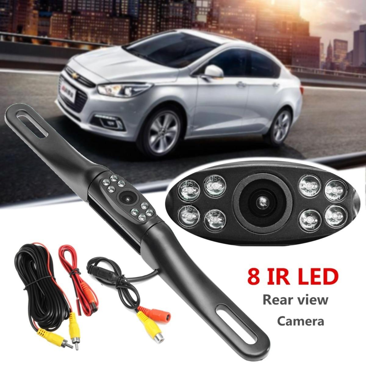Car IR Night Vision 170 Degree Rear View Camera License Plate Frame Car Reverse Camera Waterproof Backup Camera For Monitor 5
