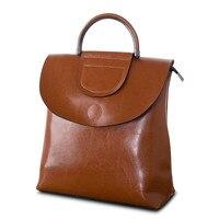 Amasie рюкзак женский из натуральной кожи Для женщин рюкзаки школьные сумки многофункциональный кожаный рюкзак на плечо EGT0103