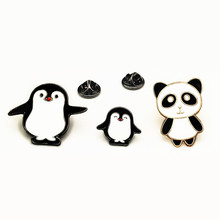 Super cute and lovely Garment act the role  is tasted sweet drip panda brooch clothes